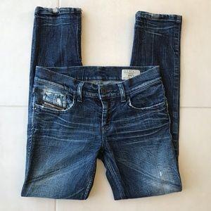 Diesel Zivy Distressed Skinny Jeans J254